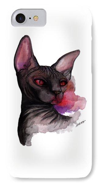 Watercolor Sphinx IPhone Case by Akiko Okabe