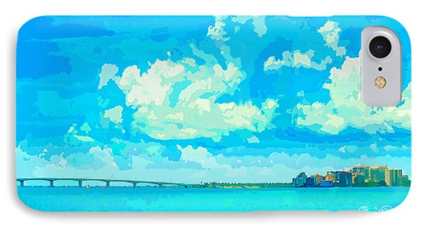 Watercolor Spring On Sarasota Bay IPhone Case by Susan Molnar
