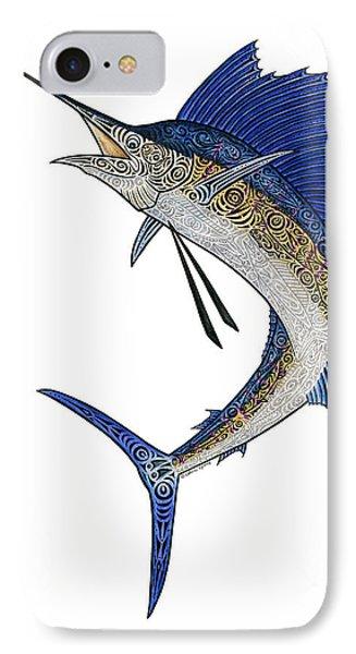 Watercolor Tribal Sailfish IPhone Case