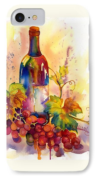Watercolor Wine Phone Case by Peggy Wilson
