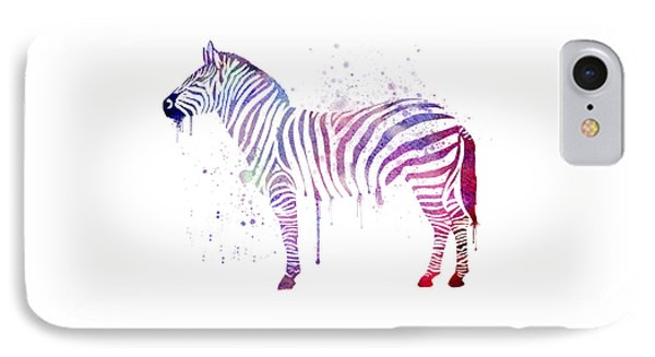 Watercolor Zebra IPhone Case