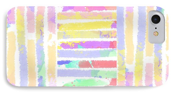 Watercolour Abstract Strips 3 IPhone Case by Keshava Shukla
