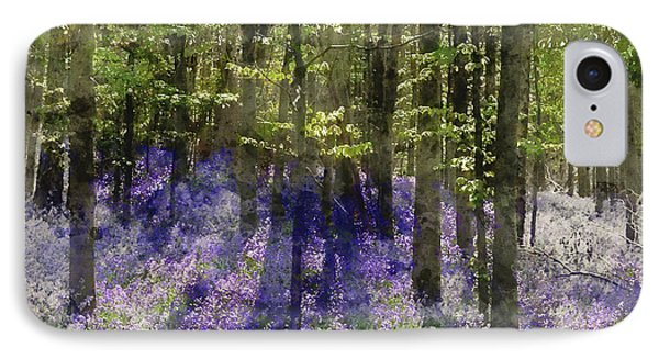 Watercolour Painting Of Eautiful Morning In Spring Bluebell For IPhone Case