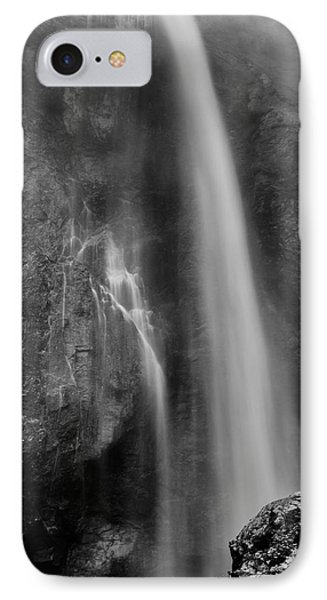 Waterfall 5830 B/w IPhone Case by Chris McKenna