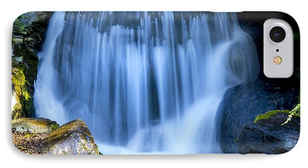 Waterfall At Dow Gardens, Midland Michigan IPhone Case by Pat Cook