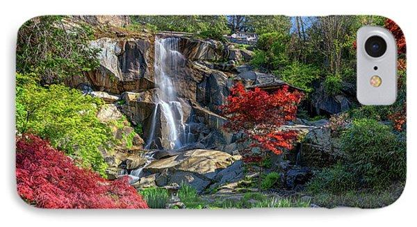 Waterfall At Maymont IPhone Case by Rick Berk