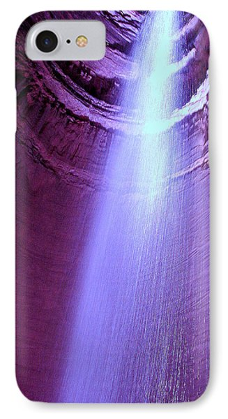 Waterfall At Ruby Falls IPhone Case by Debra Forand