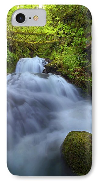 Waterfall At Shepperds Dell Falls Phone Case by David Gn