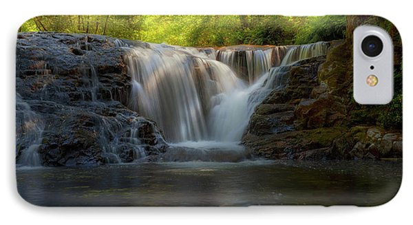 Waterfall At Sweet Creek Hiking Trail Complex Phone Case by David Gn