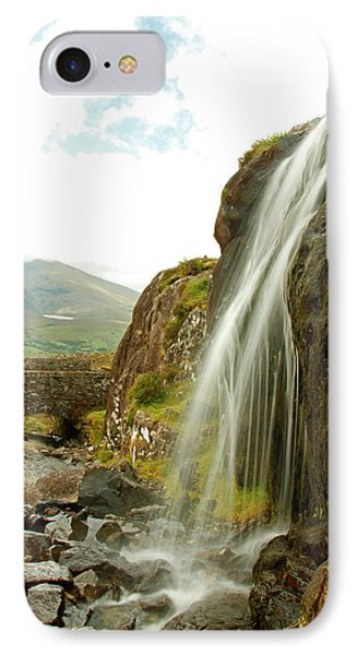 Waterfall At The Conor Pass IPhone Case