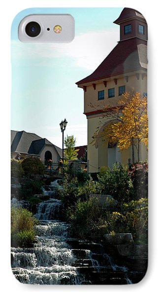 IPhone Case featuring the photograph Waterfall Frankenmuth Mich by LeeAnn McLaneGoetz McLaneGoetzStudioLLCcom