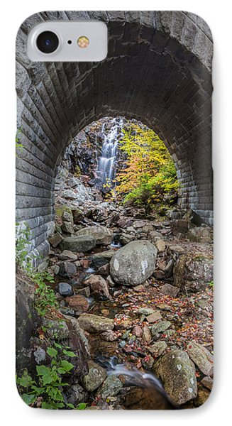Waterfall In Acadia IPhone Case by Jon Glaser