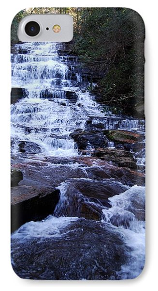 Waterfall In Georgia IPhone Case by Angela Murray