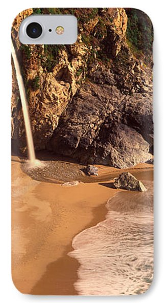 Waterfall, Mcway Cove, Big Sur, Ca IPhone Case by Panoramic Images