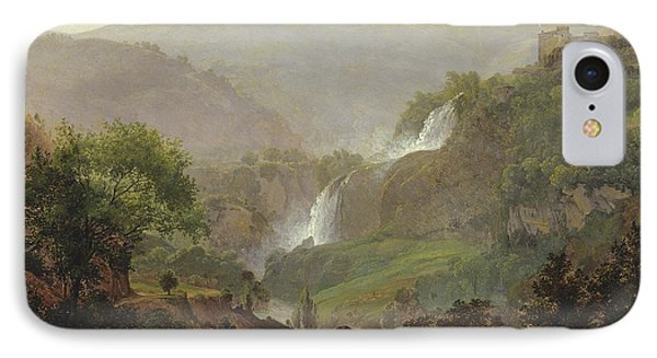 Waterfall Near Tivoli IPhone Case