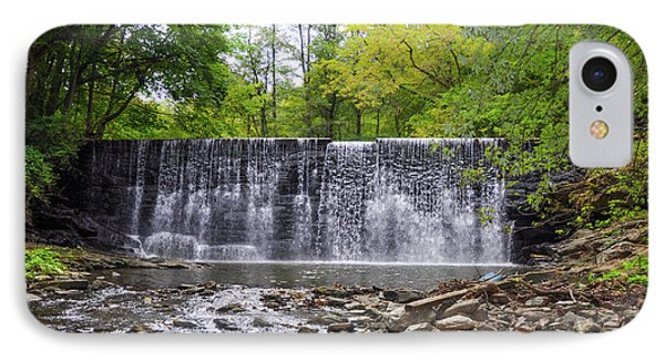 Waterfall On The Main Line - Gladwyne Pa IPhone Case by Bill Cannon