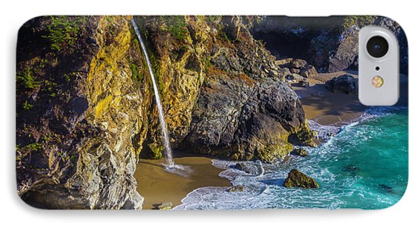 Waterfall Pouring Into The Ocean IPhone Case