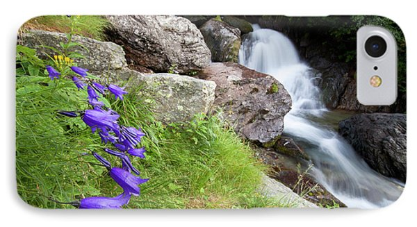 Waterfalls And Bluebells Phone Case by Mircea Costina Photography