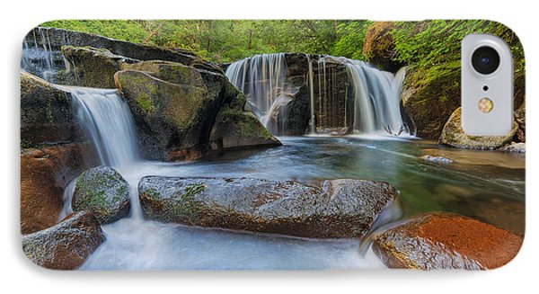Waterfalls At Sweet Creek Falls Trail Phone Case by David Gn
