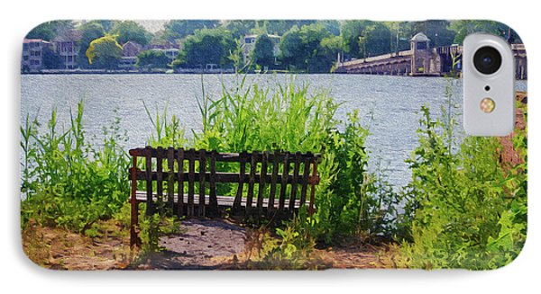 Waterfront Bench - Paint Fx IPhone Case