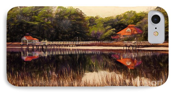 IPhone Case featuring the painting Waterfront Paradise by Dan Carmichael