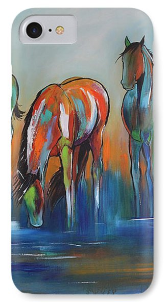 IPhone Case featuring the painting Watering Hole 5 by Cher Devereaux