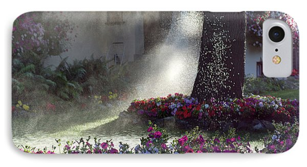 Watering The Lawn IPhone Case by Keith Boone