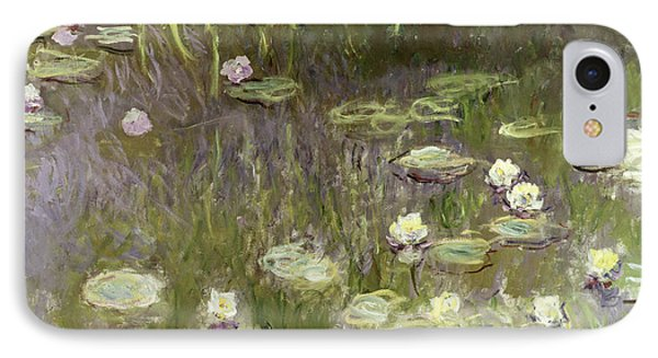 Waterlilies At Midday Phone Case by Claude Monet