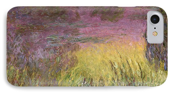 Waterlilies At Sunset IPhone Case by Claude Monet