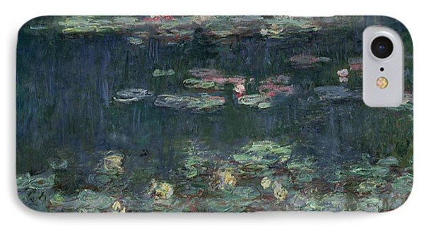 Waterlilies Green Reflections IPhone Case
