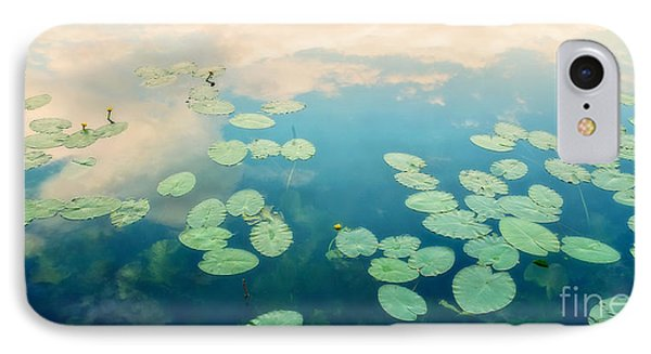 Waterlilies Home IPhone Case by Priska Wettstein