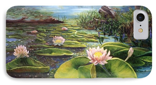 IPhone Case featuring the painting Waterlilies by Renate Nadi Wesley