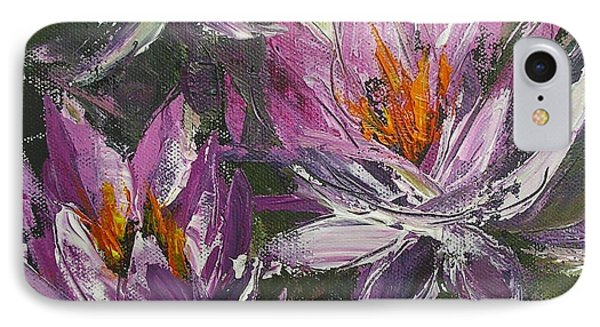 IPhone Case featuring the painting Waterlilly by Chris Hobel