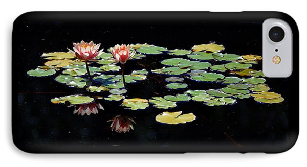 IPhone Case featuring the painting Waterlily Panorama by Marilyn Smith