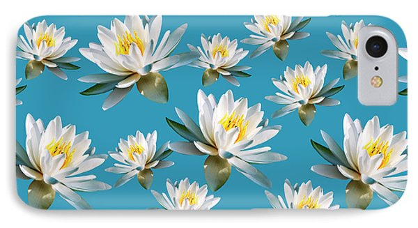 IPhone Case featuring the mixed media Waterlily Pattern by Christina Rollo