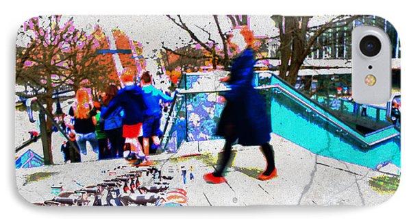 Waterloo Street Scene IPhone Case by Judi Saunders