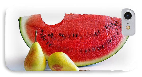 Watermelon And Pears IPhone 7 Case by Carlos Caetano