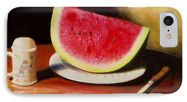 Watermelon Time IPhone Case by Gene Gregory