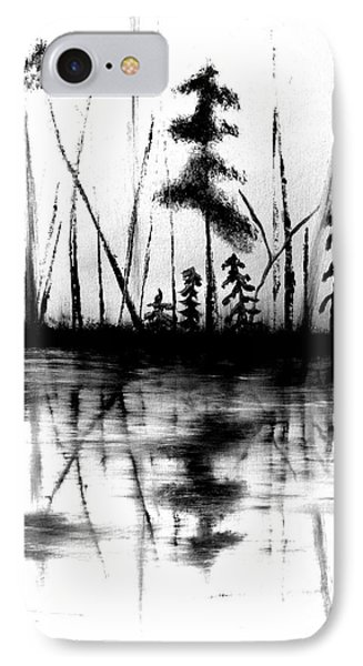 IPhone Case featuring the painting Waters Edge by Denise Tomasura