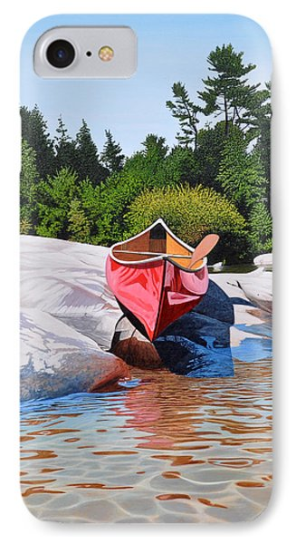 IPhone Case featuring the painting Waters Edge by Kenneth M Kirsch