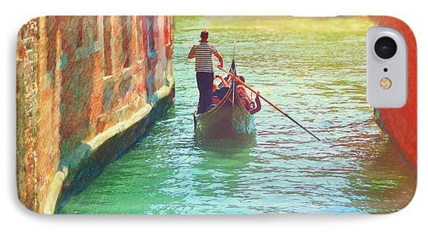 Waterways Of Venice IPhone Case by Garland Johnson