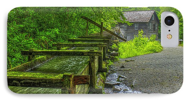 IPhone Case featuring the photograph Waterworks Mingus Mill Mingus Creek Art  Great Smoky Mountains Art by Reid Callaway