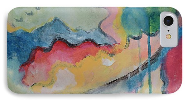 IPhone Case featuring the digital art Watery Abstract by Susan Stone