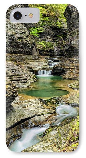 Watkins Glen Gorge Trail IPhone Case by Stephen Stookey