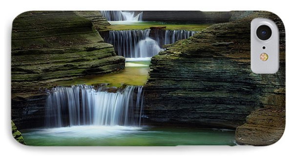 Watkins Glen New York Waterfall IPhone Case by Bill Wakeley