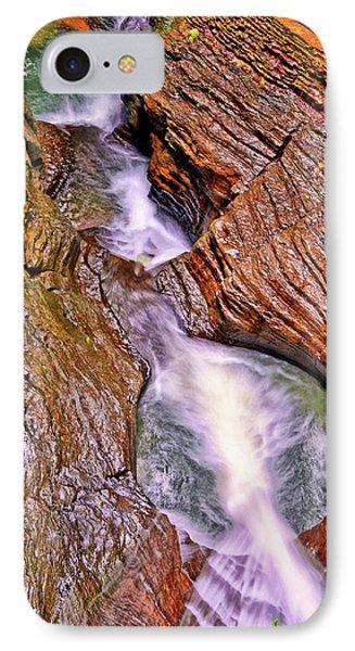 Watkins Glen - Rainbow Falls 005 IPhone Case by George Bostian