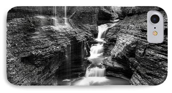 Watkins Glen Rainbow Falls #2 IPhone Case by Stephen Stookey