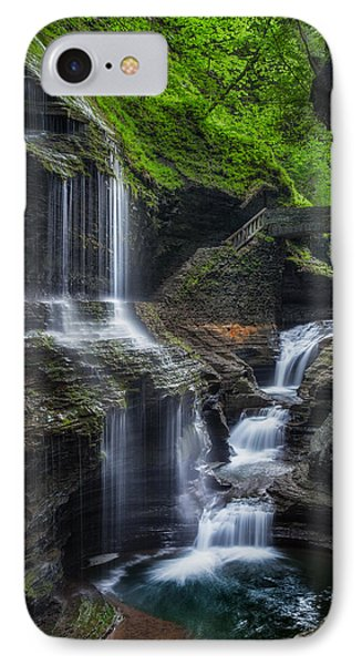 Watkins Glen Rainbow Falls 2013 IPhone Case by Bill Wakeley