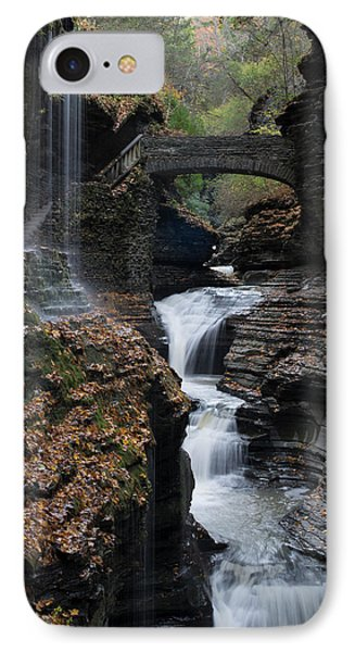 IPhone Case featuring the photograph Watkins Glen Rainbow Falls by Joshua House