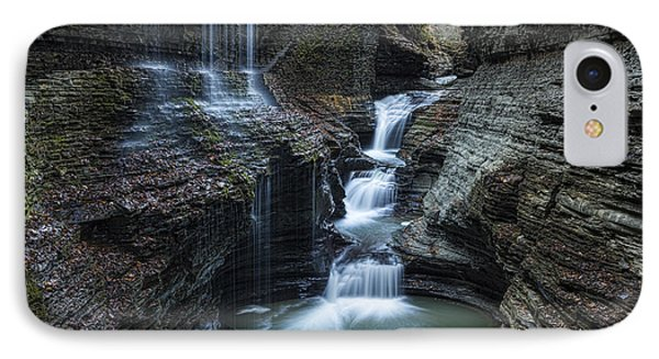Watkins Glen Rainbow Falls IPhone Case by Stephen Stookey